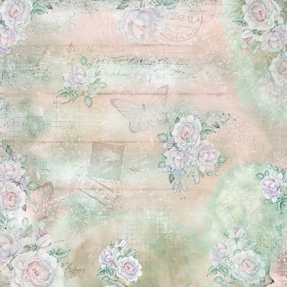 Summer Roses 180gsm 30 x 30cm single sided scrapbooking paper