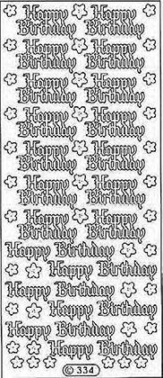 Happy Birthday (Gothic Print)