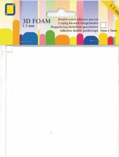 1.5mm adhesive foam dimensional squares