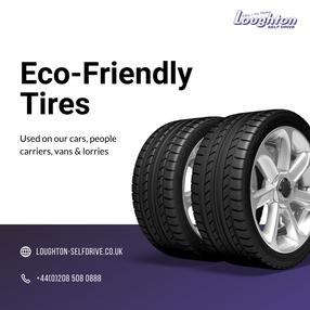 Eco friendly tires social media