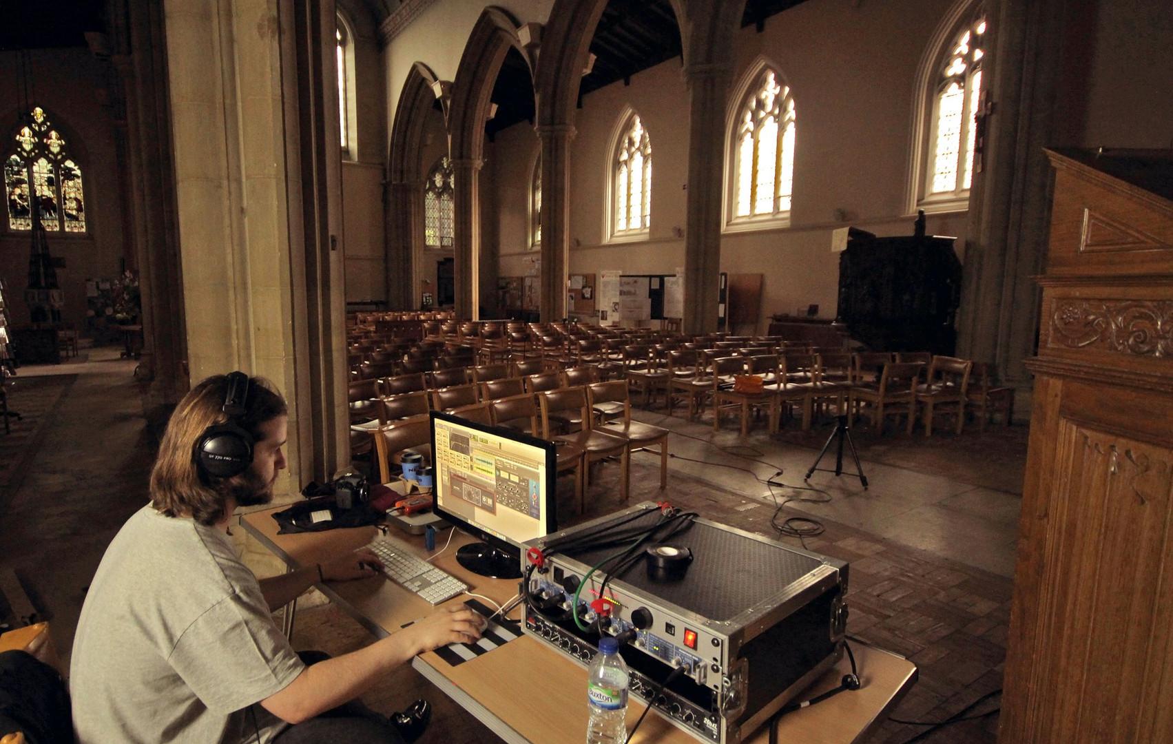 Recording in a church!