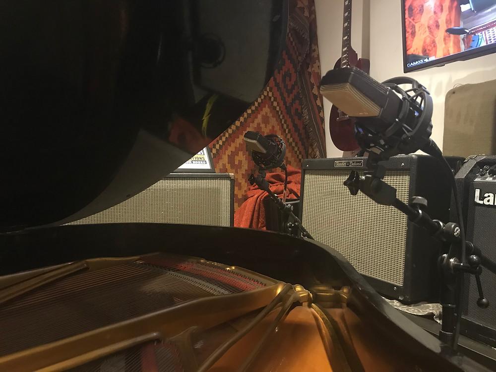 AKG C414 Microphones Recording Piano