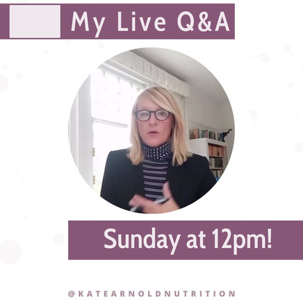 Kate Arnold Nutrition Consultant Content
