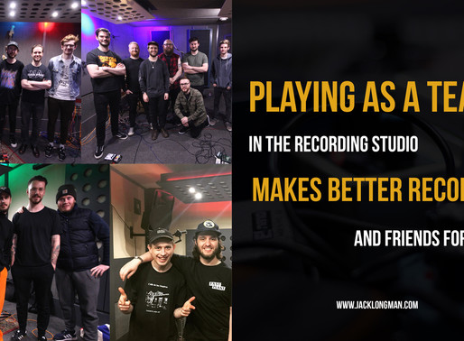 In the studio, be a team-player, always.