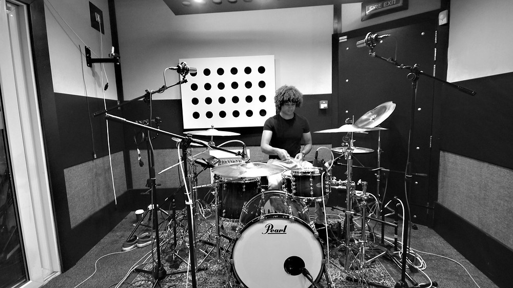 Matt Chivers Drummer recording with Jack Longman at Soundlab Studios