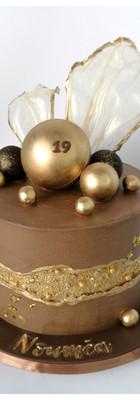 Fault line cake femme  19 ans or marron chic