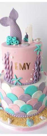 Cake design sirène mermaid