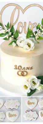 Cake design layer cake 10 ans de mariage