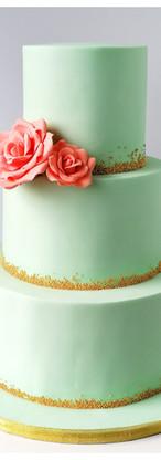 Wedding cake mint et pêche
