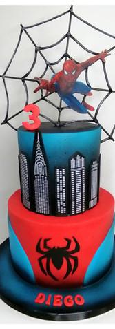 Spiderman cake design