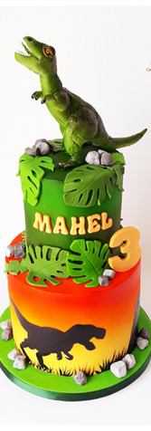 cake design dinosaure T-rex