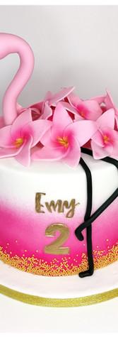 Cake design gâteau flamant rose
