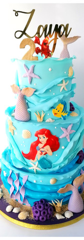 Cake design Ariel la petite sirène