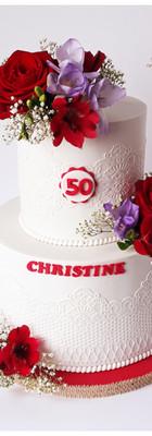 cake design dentelle fleurs