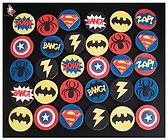 Biscuits décorés super héros