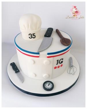 Cake design chef cuisinier