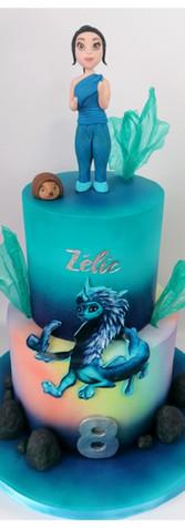 Rahia et le dernier dragon cake design