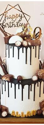 Drip cake chocolats