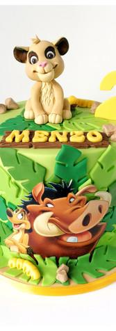 Le Roi Lion simba poumba cake design