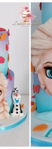 La Reine des neiges 2 cake design