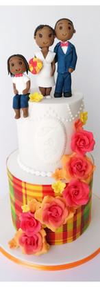 Wedding cake Antillais