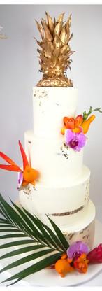 Wedding cake nude cake tropical ananas