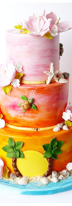 wedding cake tropical exotique