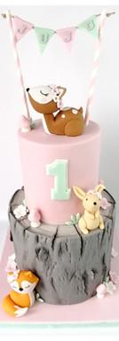 Cake design petits animaux de la forêt woodland