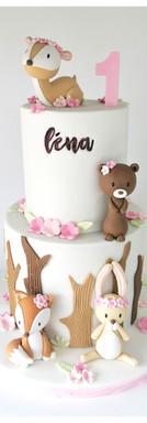 Cake design petits animaux de la forêt