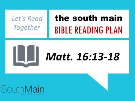 Bible Reading Plan   February 17, 2021