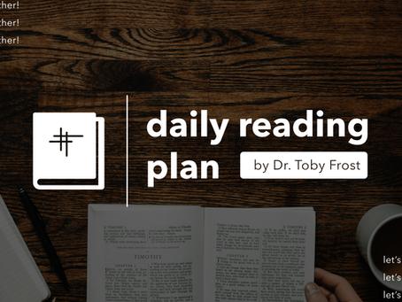 Bible Reading Plan | July 24, 2021