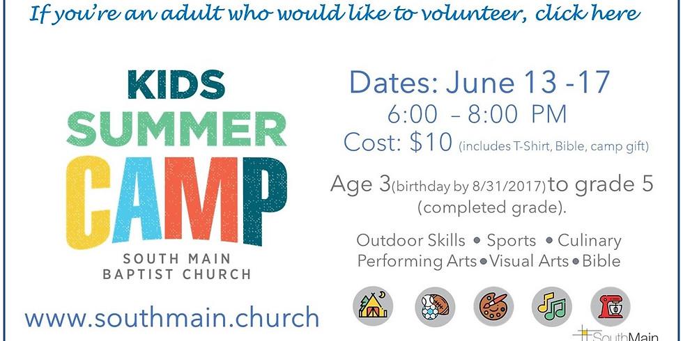 Kid's Camp Volunteers