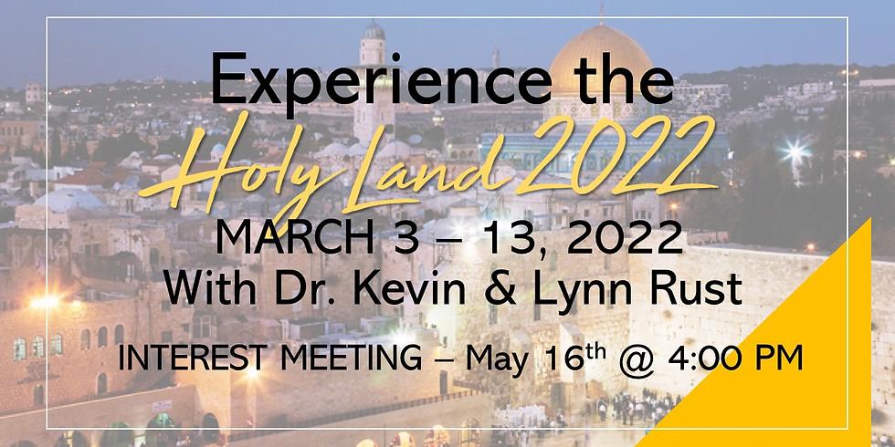 Holy Land Interest Meeting