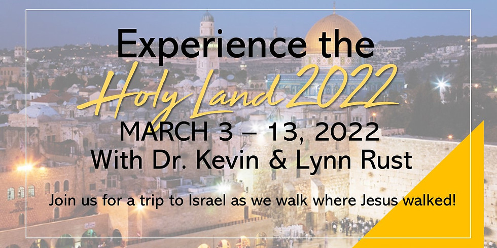 Experience the Holy Land 2022