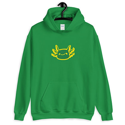 Unisex Hoodie Green Type A (Front)