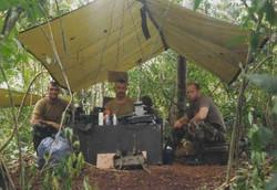 Het commandopost in Belize