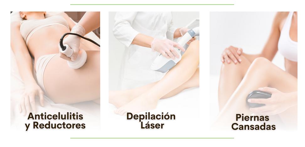 reduccion de medidas, cintura, celulitis, depilacion laser, laser, piernas cansadas