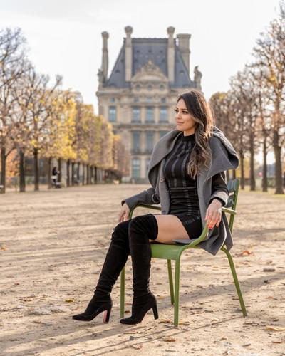 Photoshoot in Paris gardens