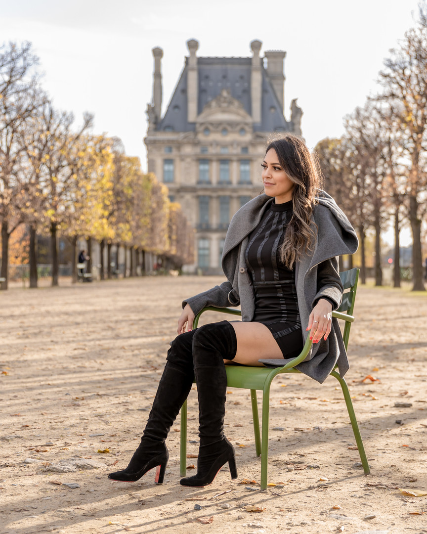 Photoshoot in Paris gardens