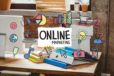 desk-office-with-online-marketing-busine