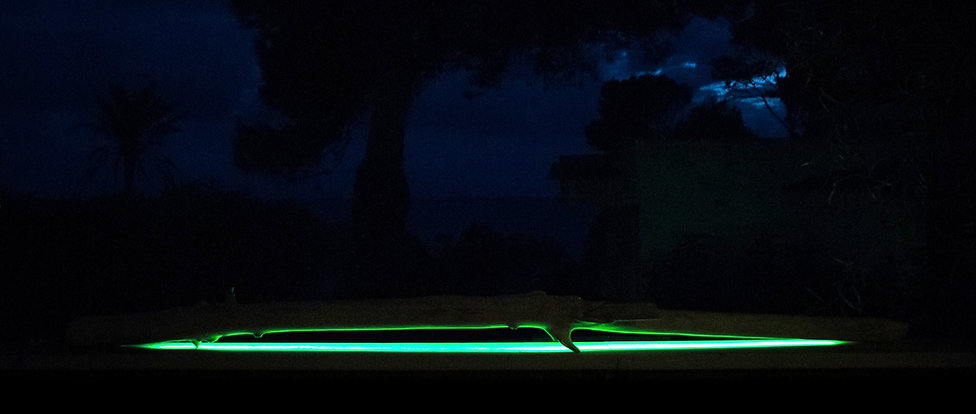 Bois flotté lumineux RGBWW