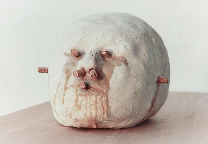 #tête#céramique#cire#liège#phanère#cinq sens#sculpture#art