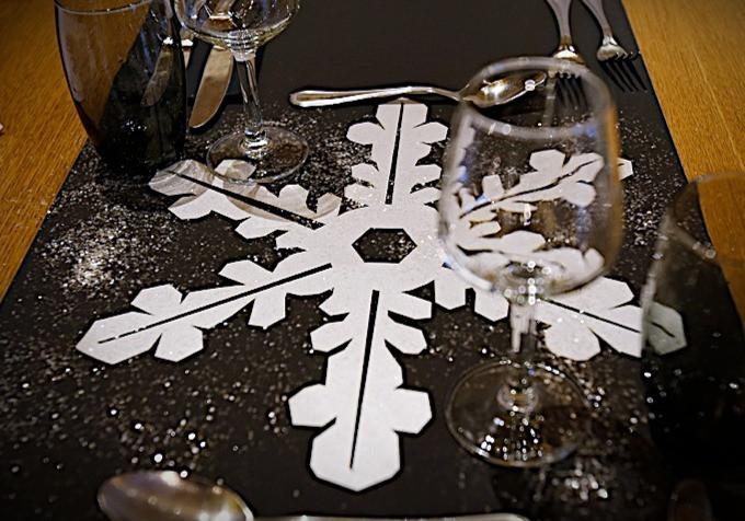 Set de table - flocon de neige