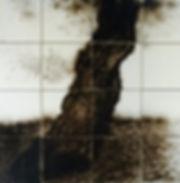 Sans titre, 2016 - Noir de fumée sur papier - 16 panneaux - H180 x 177 cm