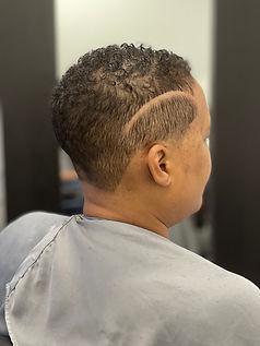 Black woman with fresh cut