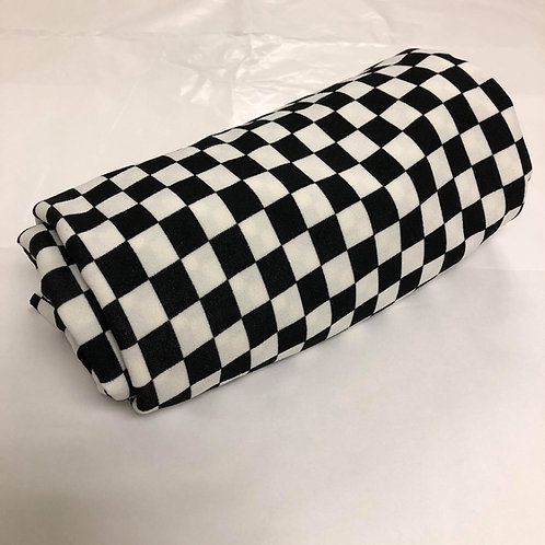 Black & White Checker Board Techo Crepe