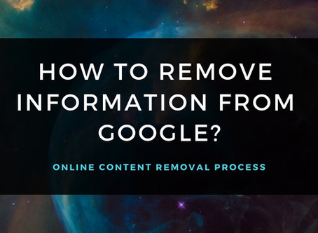How to Remove Information from Google Search Results?