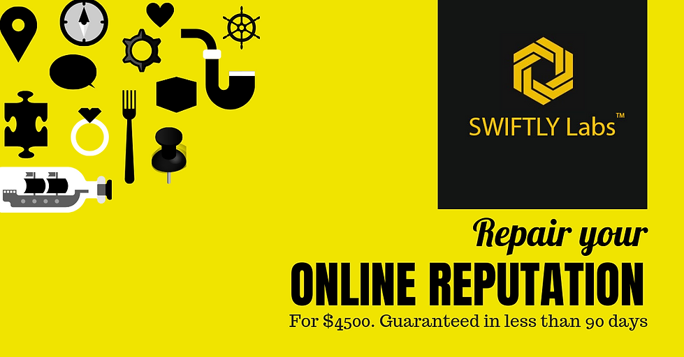$4500 Complete Online Reputation Cleanup