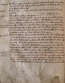 Original 13th Century record of the orde