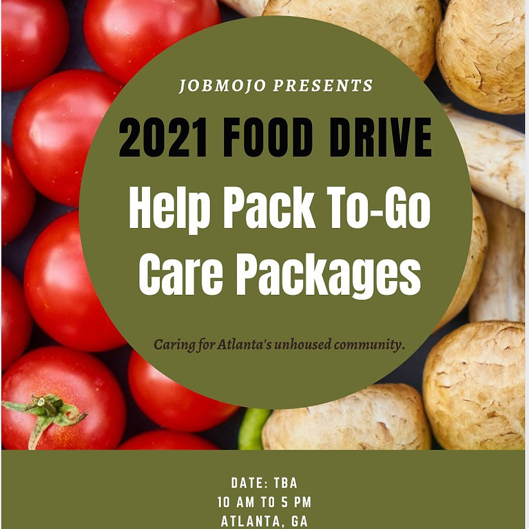 2021 FOOD DRIVE-- TO GO CARE PACKAGES
